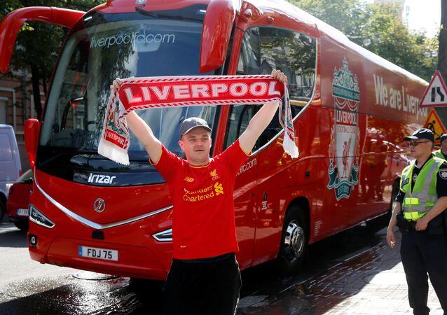 Supporters de Liverpool à Kiev