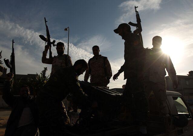 Libyan troops loyal to Gen. Khalifa Haftar.