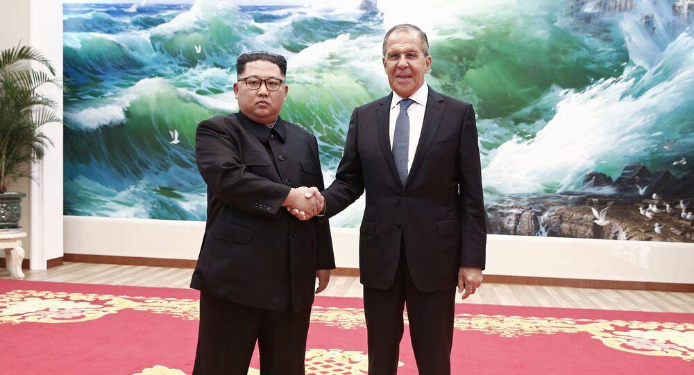 Visite du ministre russe des Affaires étrangères Sergueï Lavrov en Corée du Nord