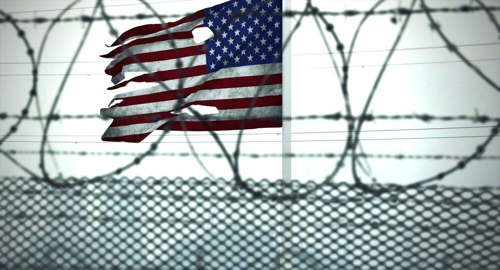 Le drapeau américain dans une prison (archive photo)