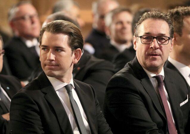 Sebastian Kurz et Heinz-Christian Strache