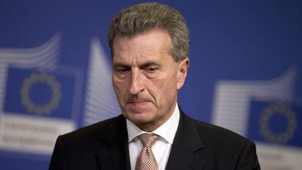 Günther Oettinger - Sputnik France