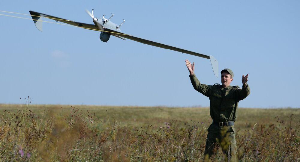 Lancement d'un drone