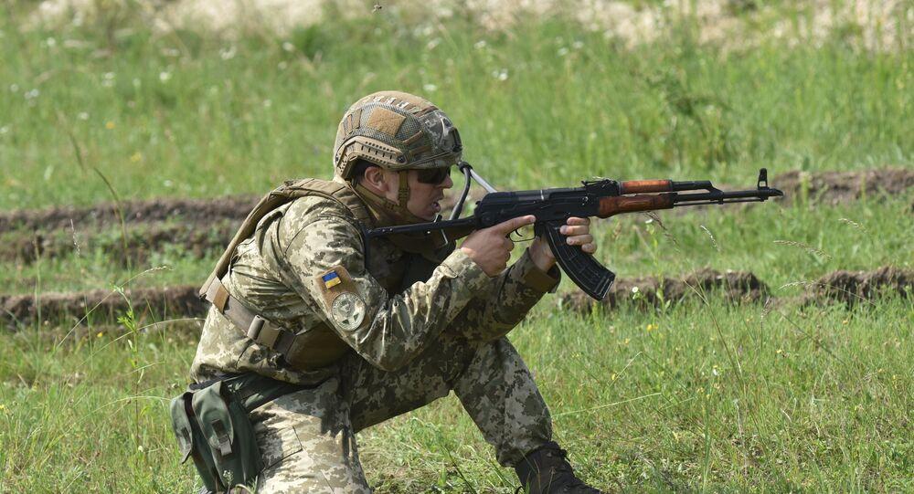 Exercices de l'armée ukrainienne (image d'illustration)