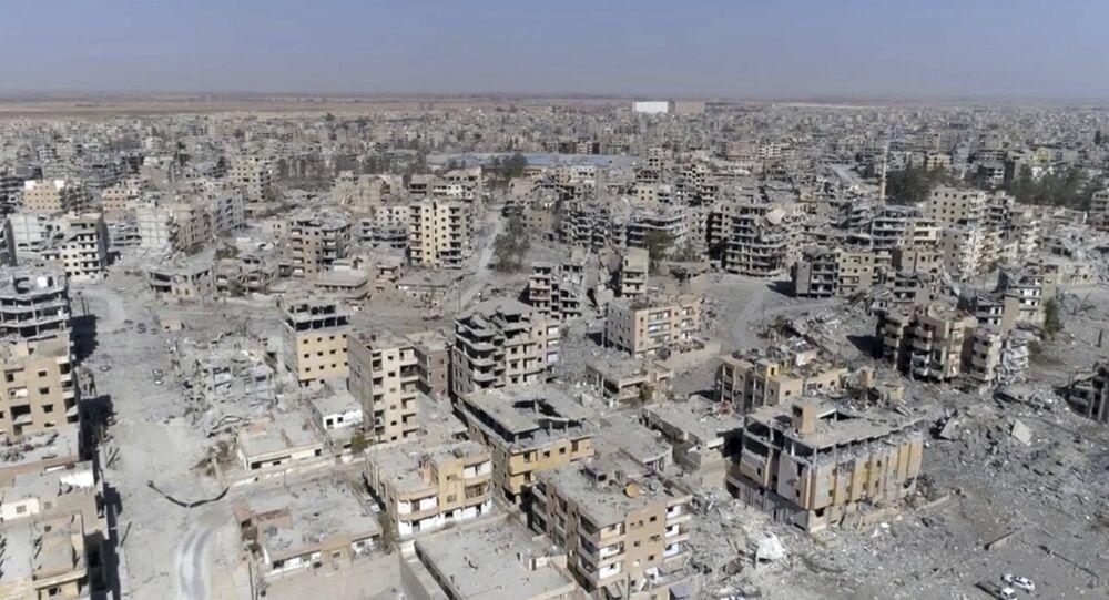 Destructions à Raqqa