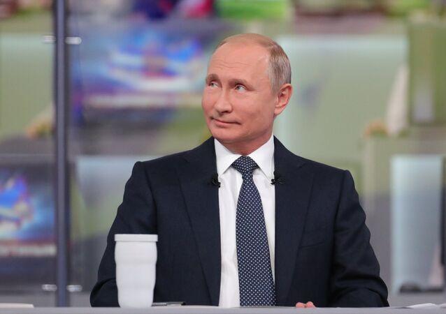 Centre d'appel de la «Ligne directe» avec Vladimir Poutine 2018