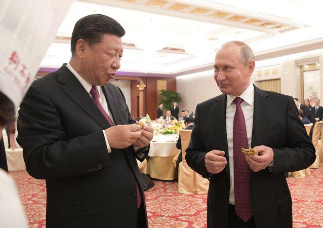 Vladimir Poutine en visite d'État en Chine
