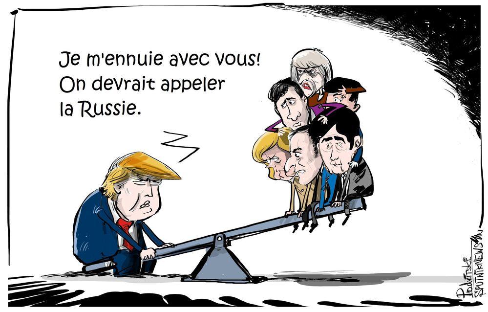 Trump appelle le G7 à réintégrer la Russie