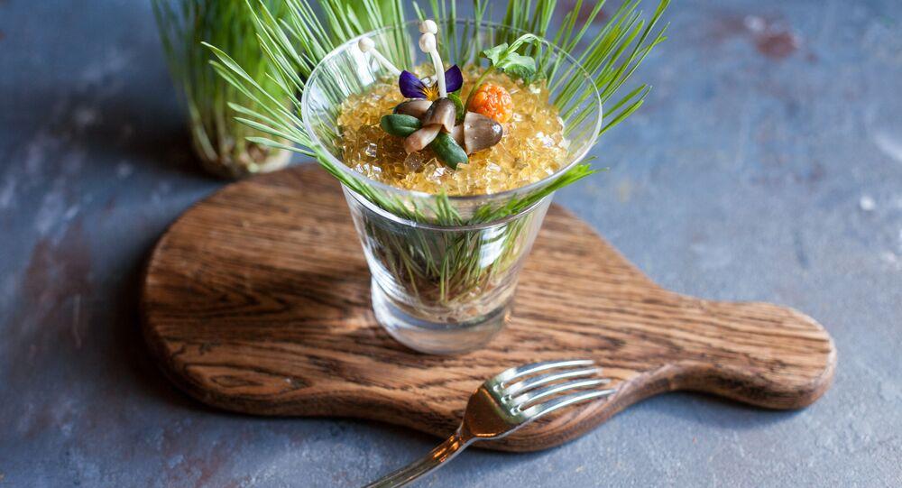 Terrine aux champignons du restaurant russe, le Café Pouchkine
