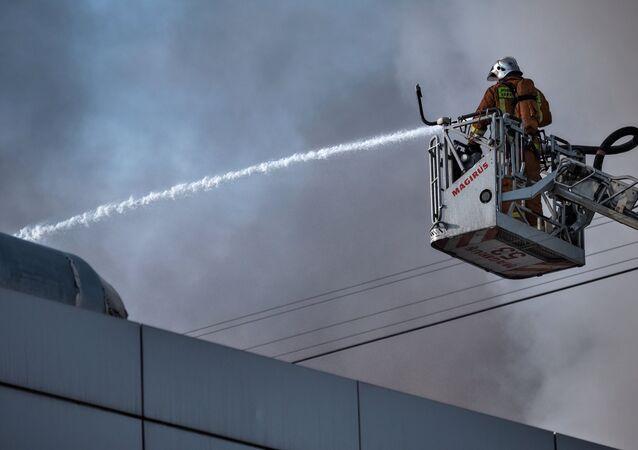 incendie, image d`illustration