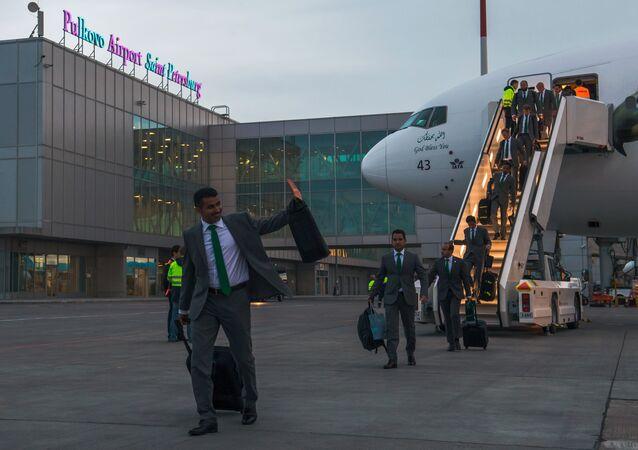 L'Arabie saoudite arrive à St-Pétersbourg au Mondial