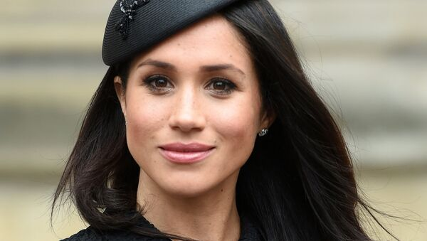 Meghan Markle, the fiancee of Britain's Prince Harry, attends a Service of Thanksgiving and Commemoration on ANZAC Day at Westminster Abbey in London - Sputnik France