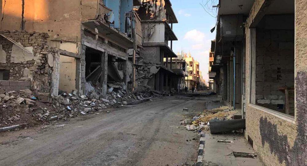 Des bâtiments détruits dans la ville de Homs (archive photo)