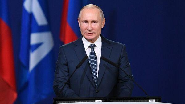 Президент РФ В. Путин принял участие в заседании 68-го конгресса Международной федерации футбола (FIFA) - Sputnik France