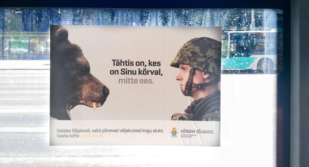 Une pub affichée sur un bus de Tallinn