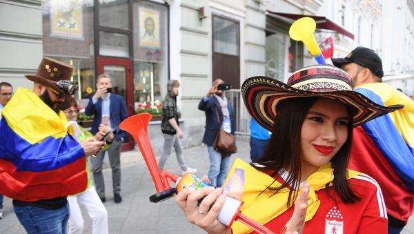 Des fans de foot au Mondial 2018 à Moscou - Sputnik France