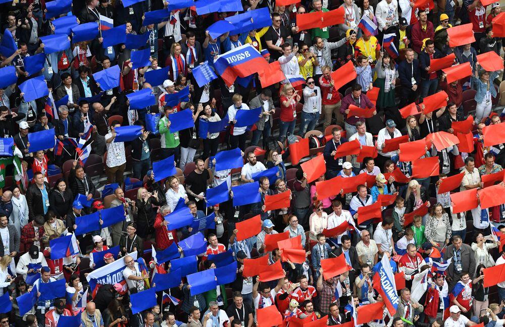 Le match d'ouverture entre la Russie et l'Arabie saoudite s'est terminé sur le score 5:0.