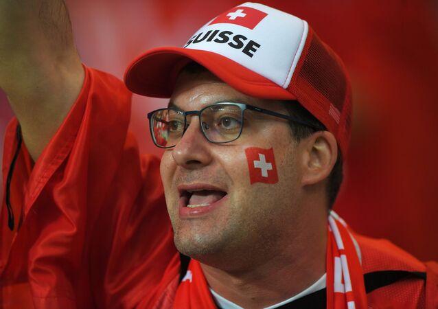Un supporter suisse