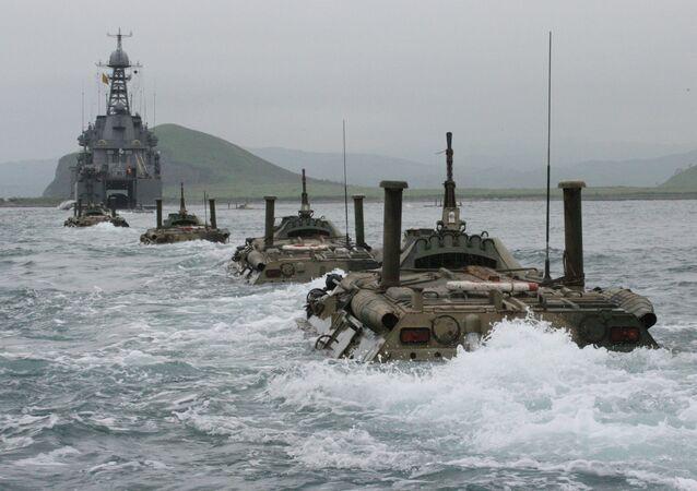 Comment l'infanterie de marine russe s'entraîne à débarquer