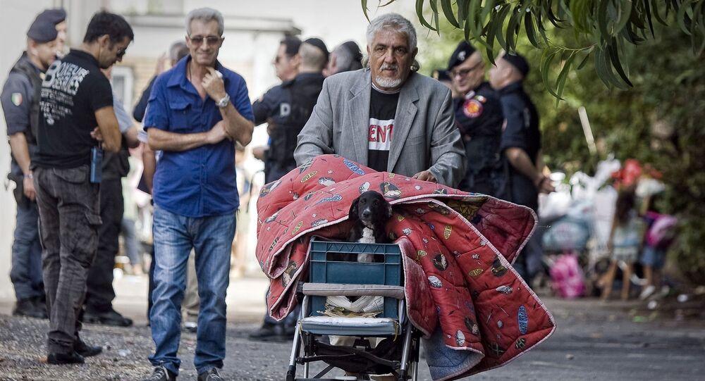Un Rom en Italie. Photo d'archive