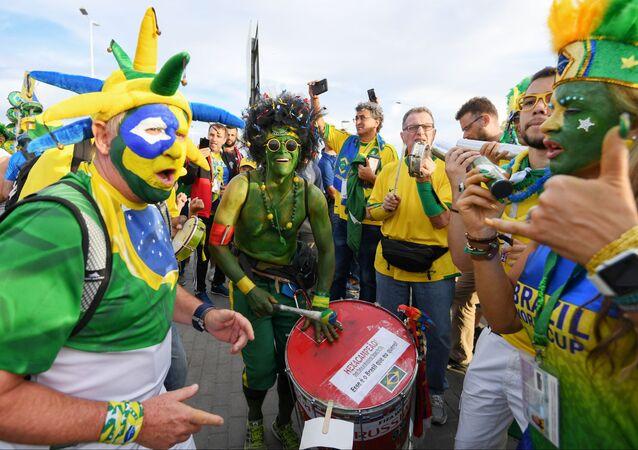 Des supporteurs brésiliens