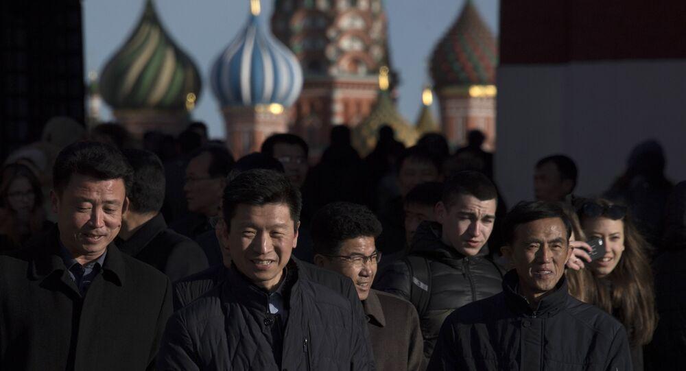 Des touristes chinois à Moscou