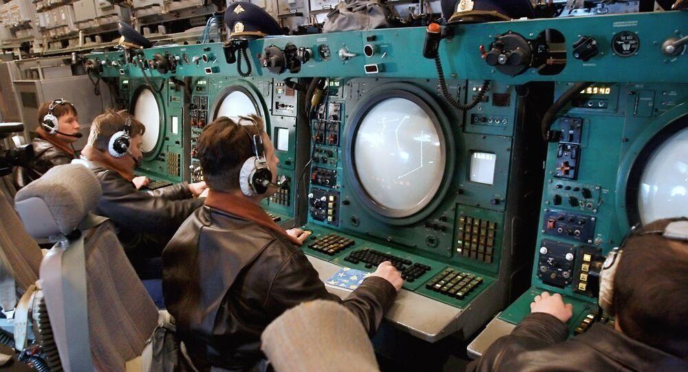 Dans un station de surveillance radar