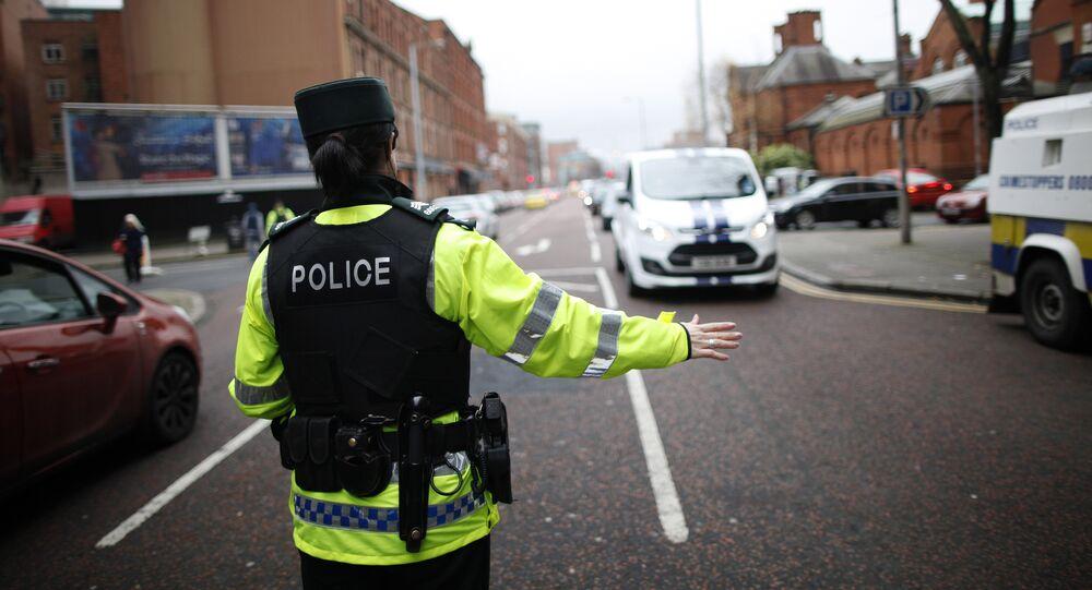 Police en Irlande. Photo d'archive