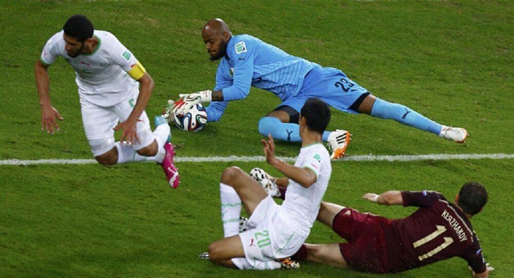 Le match Algérie Russie lors de la Coupe du monde 2014