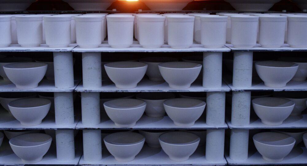 La production de la vaisselle