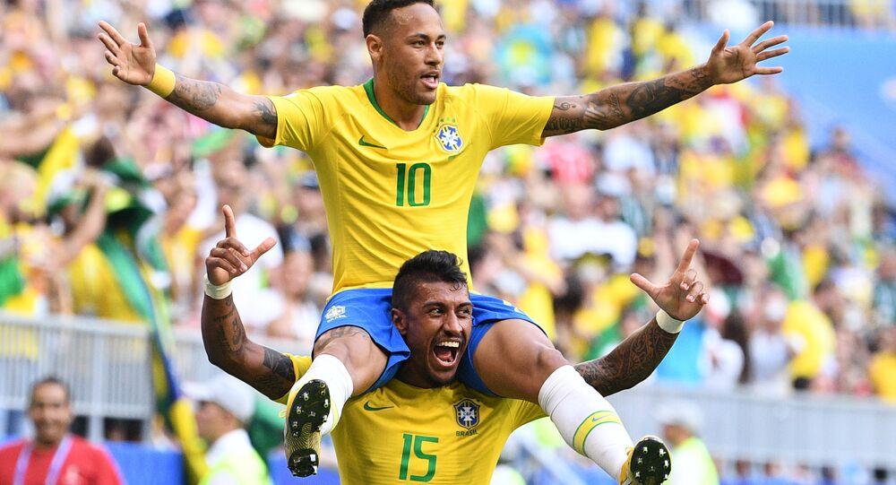 Neymar dans un match contre Mexique