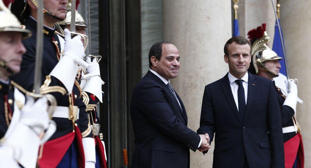 Emmanuel Macron et Abdel Fattah Al-Sissi. Photo d'archive