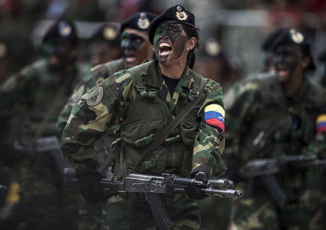 Défilé militaire à Caracas, image d'illustration
