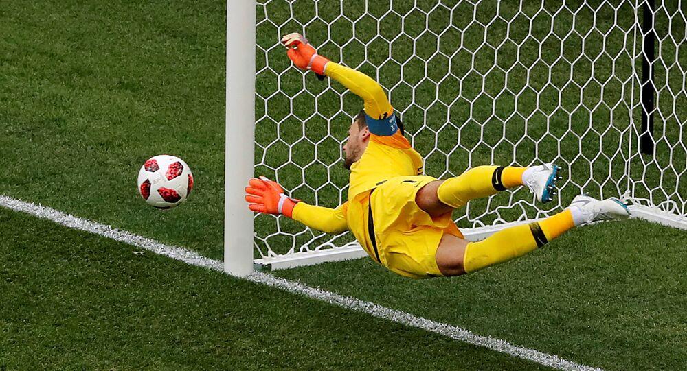 Hugo Lloris lors du match France-Uruguay