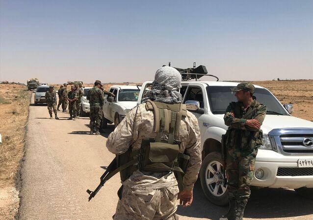Militaires syriens dans la province de Daraa