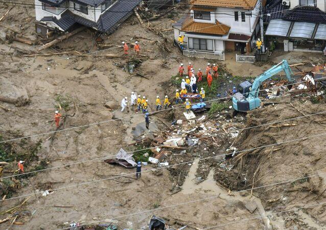 Glissement de terrain à Hiroshima