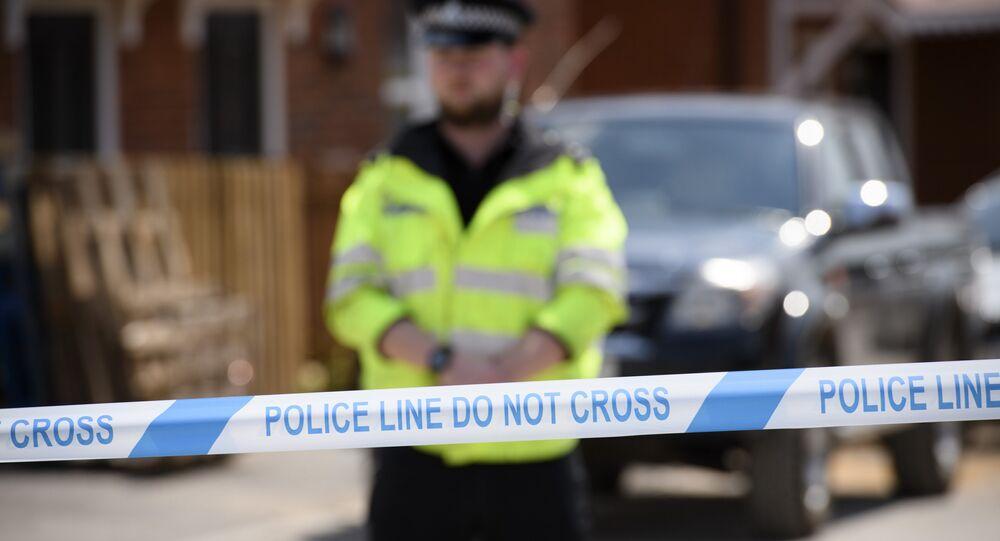 Un périmètre de sécurité établi par la police à Amesbury