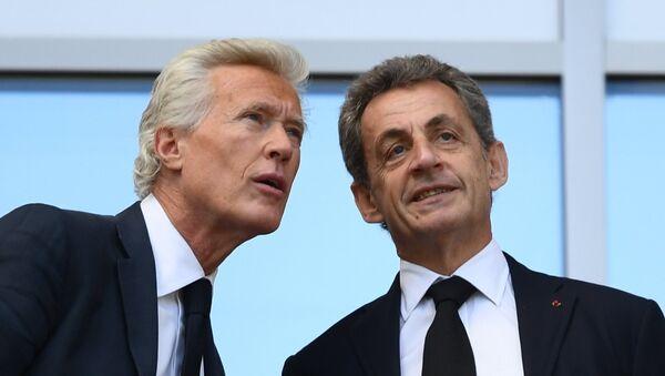 Nicolas Sarkozy (à droite) lors du match France-Australie à la phase de groupe du Mondial 2018 - Sputnik France