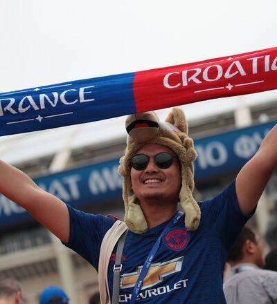 Un fan de foot avant le match France-Croatie