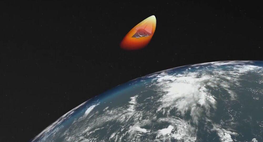 Tir d'un missile Avangard, image d'illustration