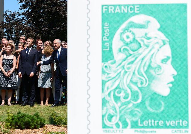 Le nouveau visage de Marianne a été dévoilé jeudi 19 juillet 2018, par Emmanuel Macron, lors d'une visite à Périgueux (Dordogne)
