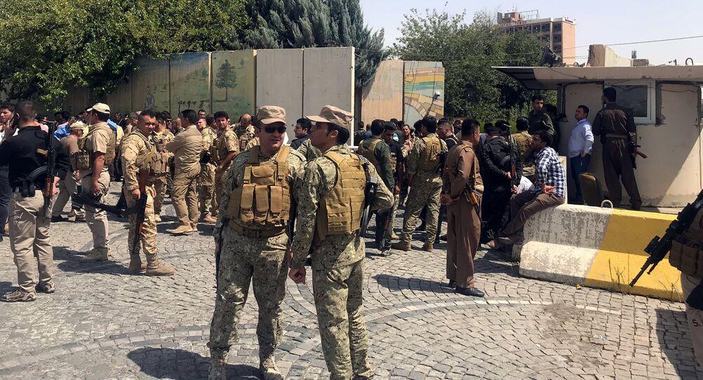 Les forces de sécurité kurdes à Erbil, en Irak le 23 juillet 2018