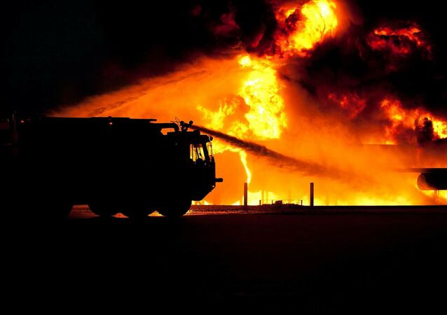 Un véhicule de pompiers, image d'illustration