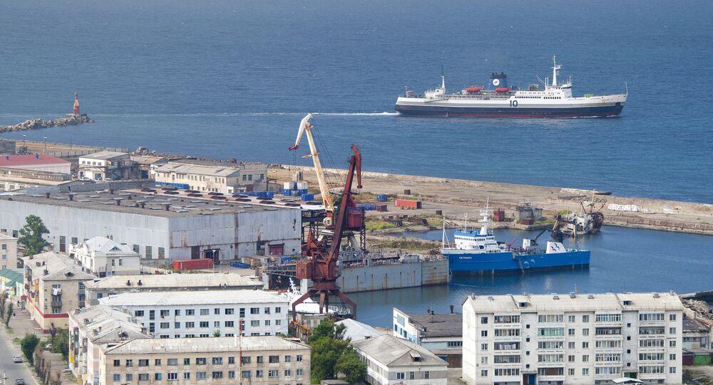 Un ferry russe reliant Sakhaline au territoire de Khabarovsk