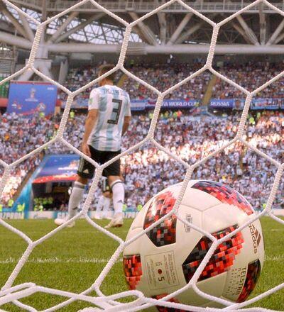 Un but encaissé par les Argentins dans un match du Mondial contre la France