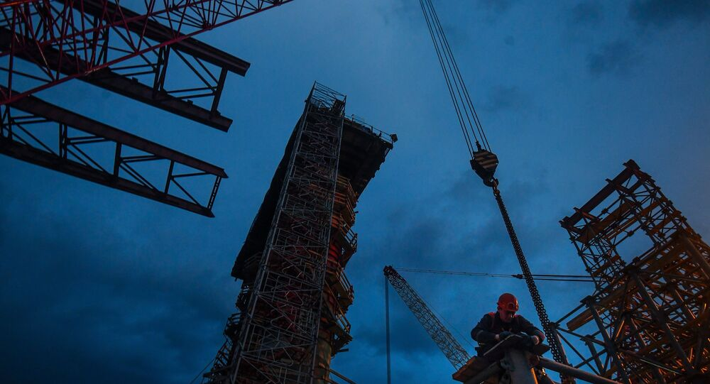 Le pont de Crimée en chantier