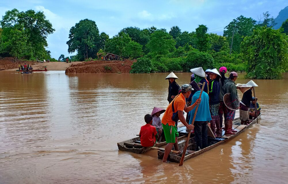 Effondrement d'un barrage au Laos