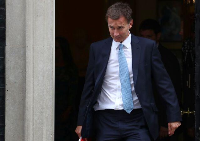 Le ministre britannique des Affaires étrangères, Jeremy Hunt
