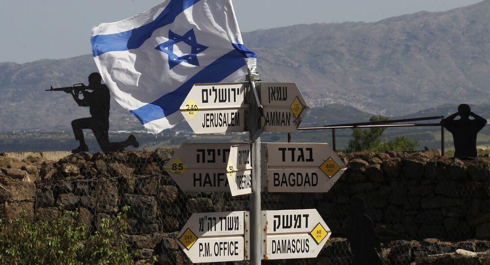 Drapeau israélien dans le Golan