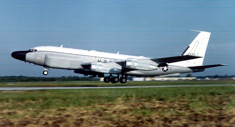 Un avion-espion RC-135 de l'US Air Force